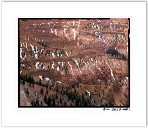 Cedar Breaks Snow Patterns
